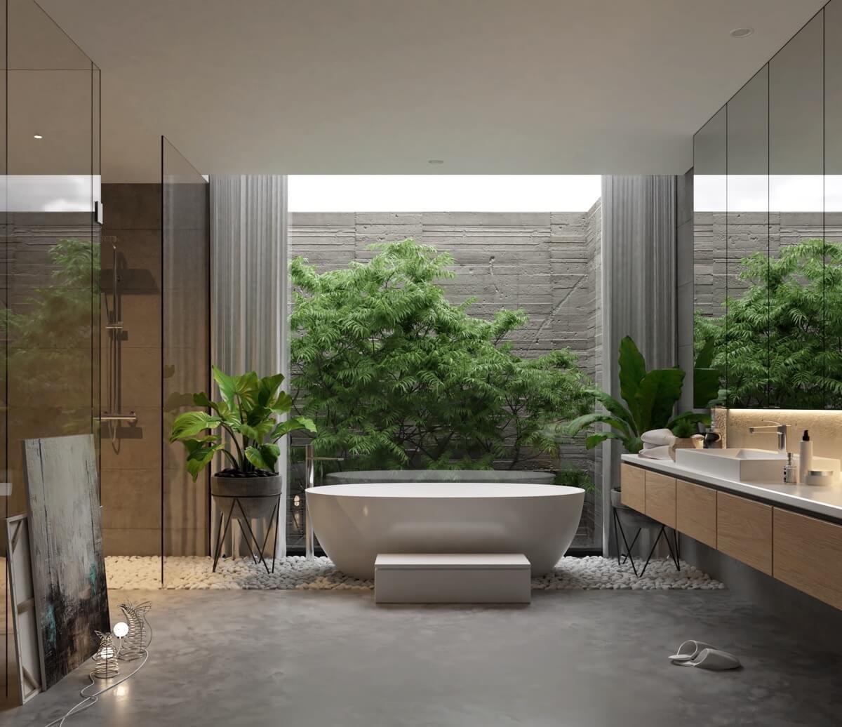 Thiết kế phòng tắm sang trọng hiện đại