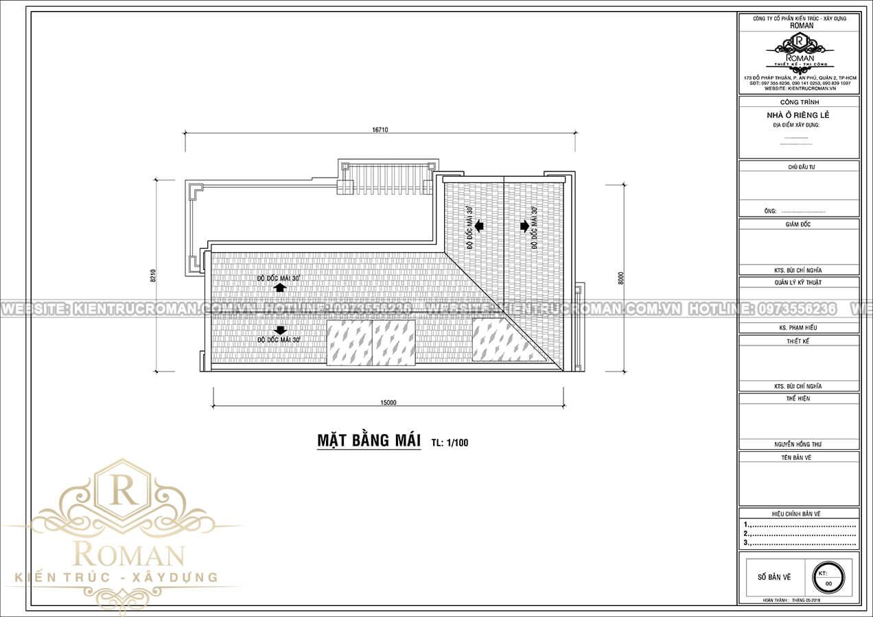 áp mái mẫu nhà tân cổ điển 3 tầng tại thủ đức