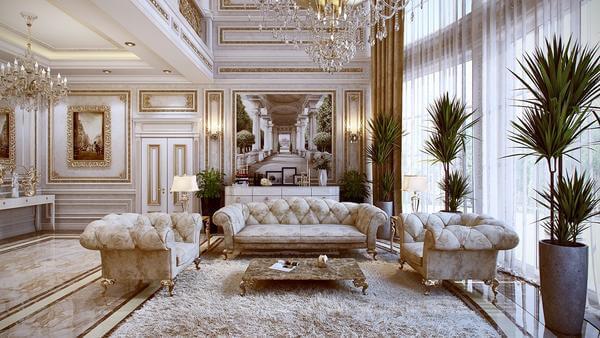mẫu phòng khách phong cách cổ điển 04
