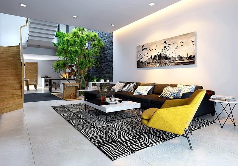 mẫu phòng khách nhà ống đẹp 23