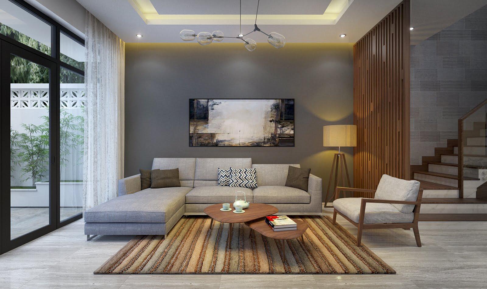 nội thất phòng khách đẹp hiện đại 22