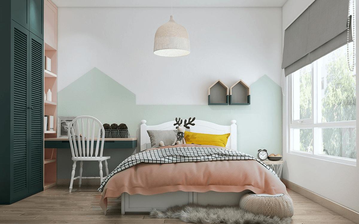 mẫu phòng ngủ đẹp cho bé gái 12