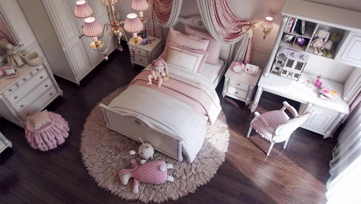 mẫu phòng ngủ đẹp cho bé gái 15