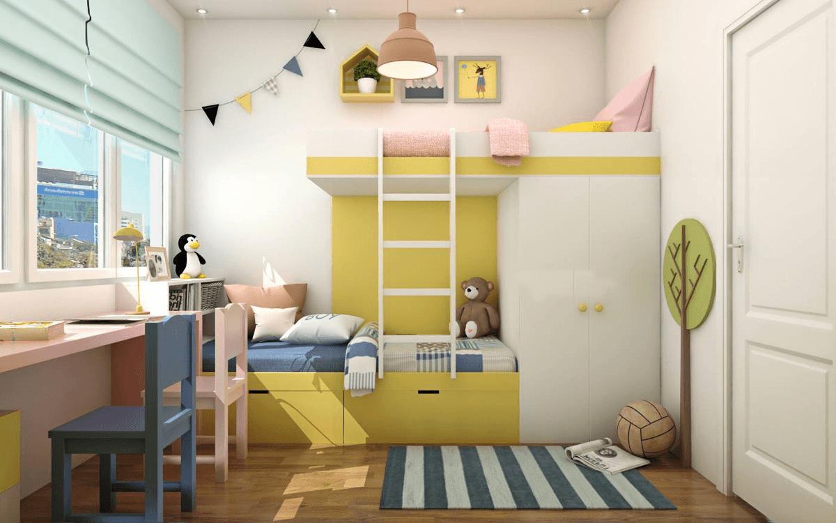 mẫu phòng ngủ đẹp cho bé gái 22