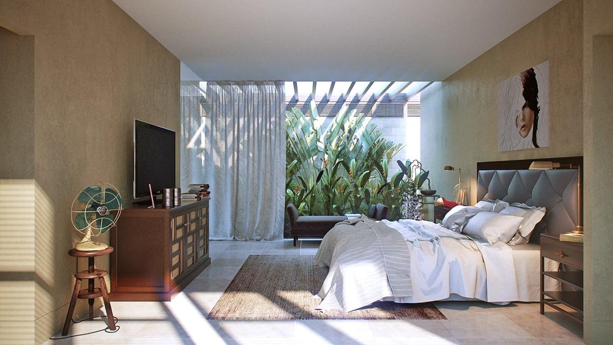 mẫu phòng ngủ đẹp với thiên nhiên