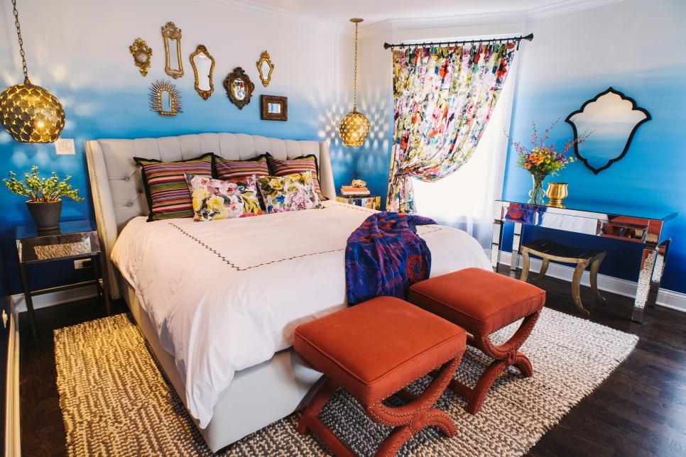 mẫu phòng ngủ đẹp phong cách bohemian