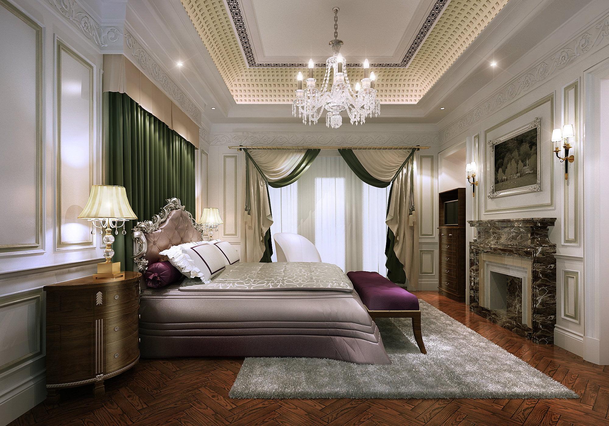 mẫu phòng ngủ đẹp phong cách tân cổ điển