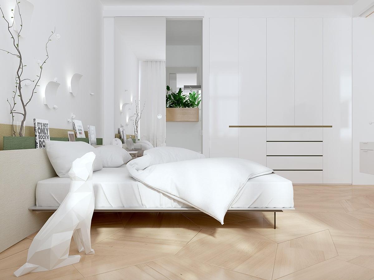 mẫu phòng ngủ đẹp phong cách tối giản