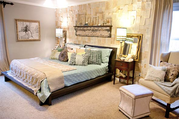 mẫu phòng ngủ đẹp phong cách vintage