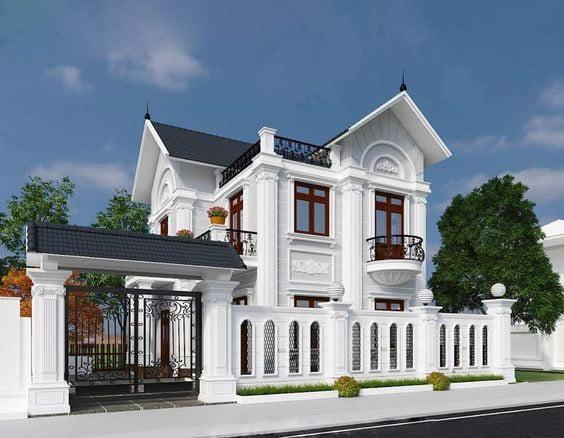 Mẫu thiết kế biệt thự 2 tầng kiểu châu âu đẹp 8