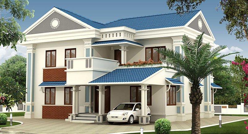 Mẫu thiết kế biệt thự 2 tầng kiểu châu âu đẹp 5