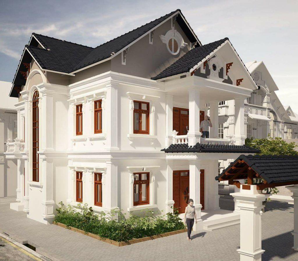 Mẫu thiết kế biệt thự 2 tầng kiểu châu âu đẹp 6