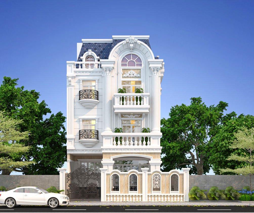 Mẫu thiết kế biệt thự 3 tầng mặt tiền 8m 4