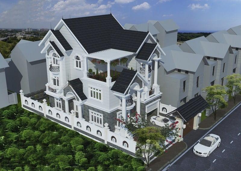 mẫu thiết kế nhà biệt thự kiểu pháp