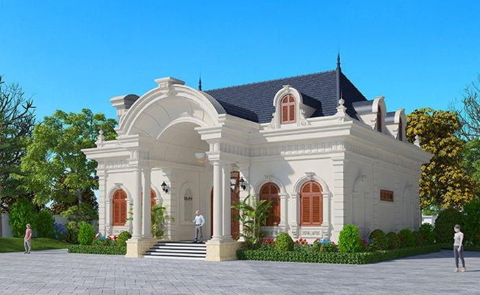 mẫu thiết kế nhà biệt thự kiểu pháp 3