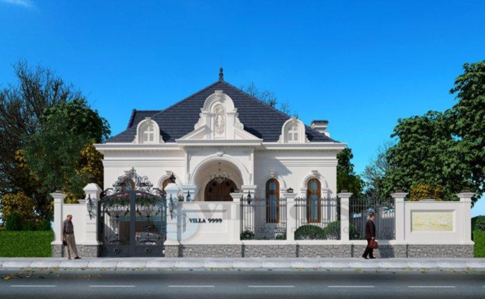 mẫu thiết kế nhà biệt thự kiểu pháp 4