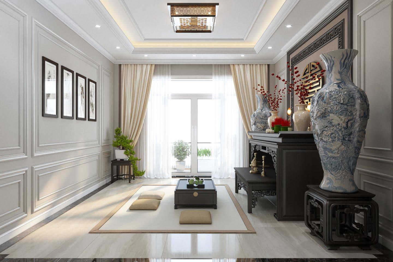 mẫu thiết kế biệt thự mini 3 tầng cổ điển đẹp 15