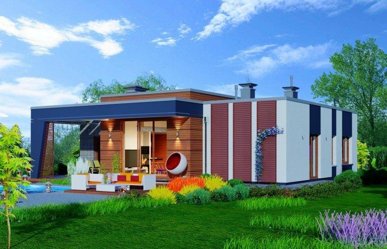 mẫu thiết kế biệt thự nhà vườn 1 tầng 3 phòng ngủ 5