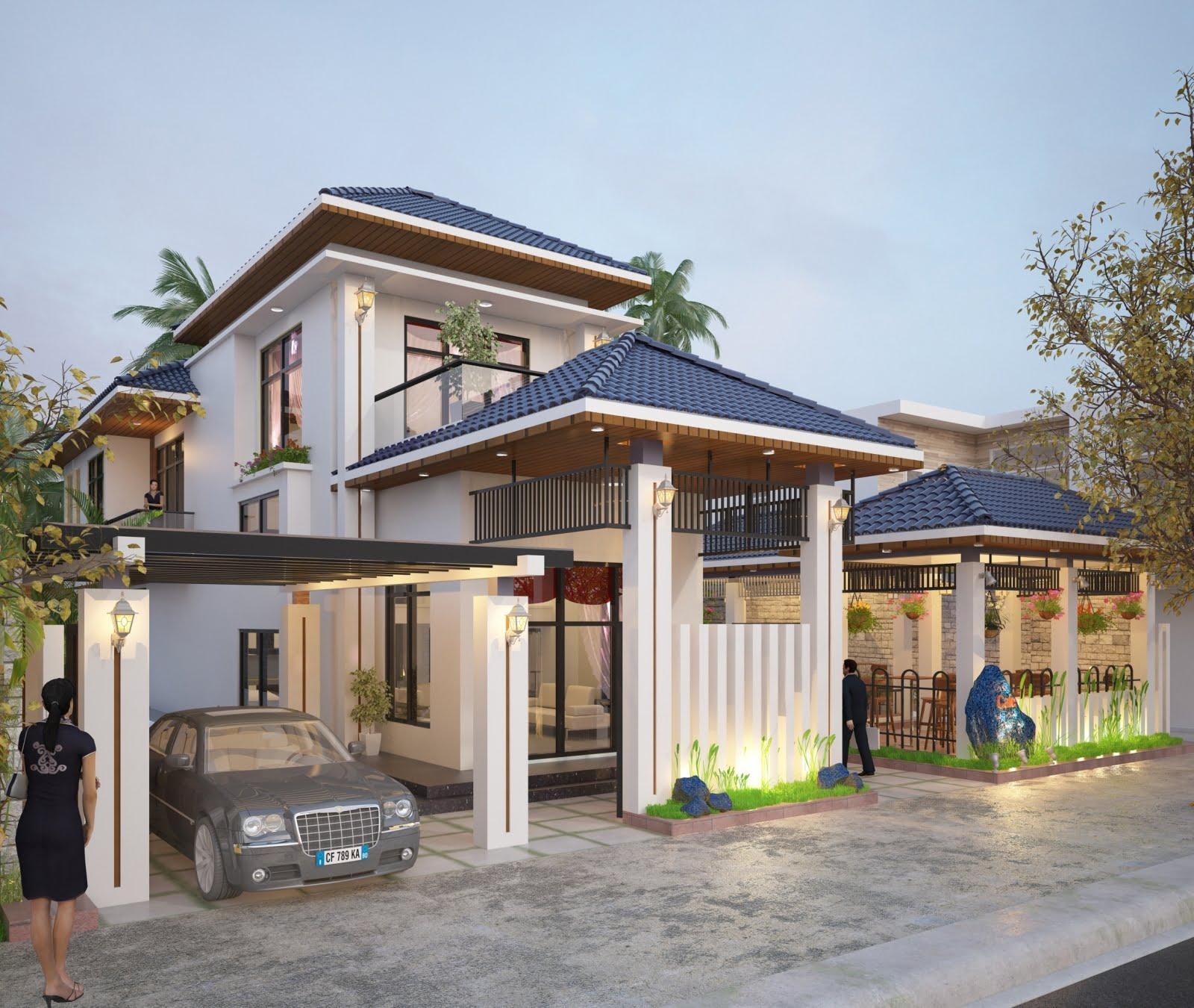 mẫu thiết kế biệt thự nhà vườn đẹp 9