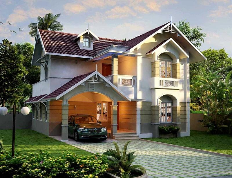mẫu thiết kế biệt thự nhà vườn đẹp 11