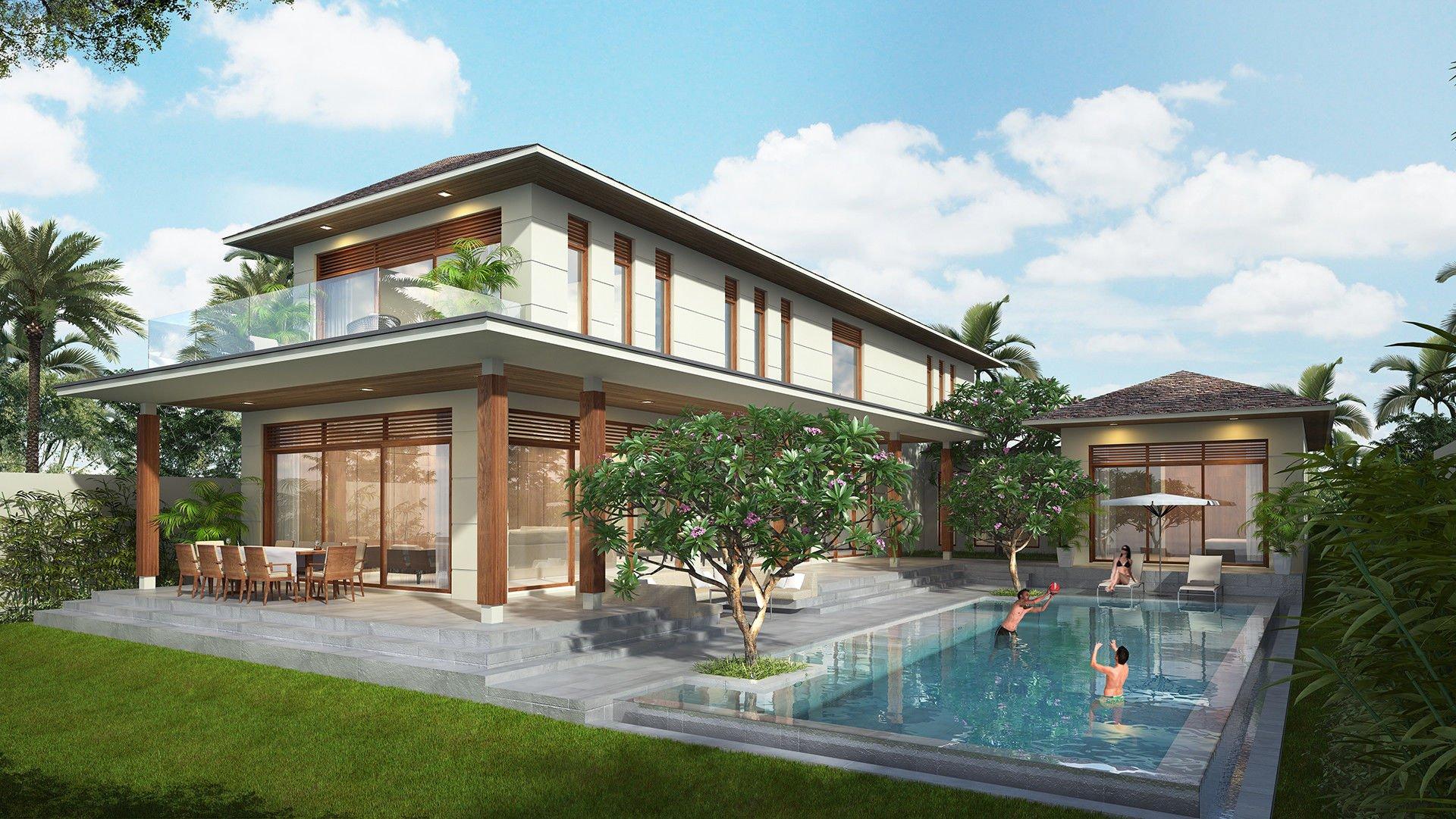 mẫu thiết kế biệt thự nhà vườn đẹp