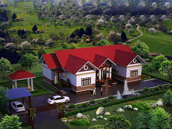 mẫu thiết kế biệt thự nhà vườn đẹp 3