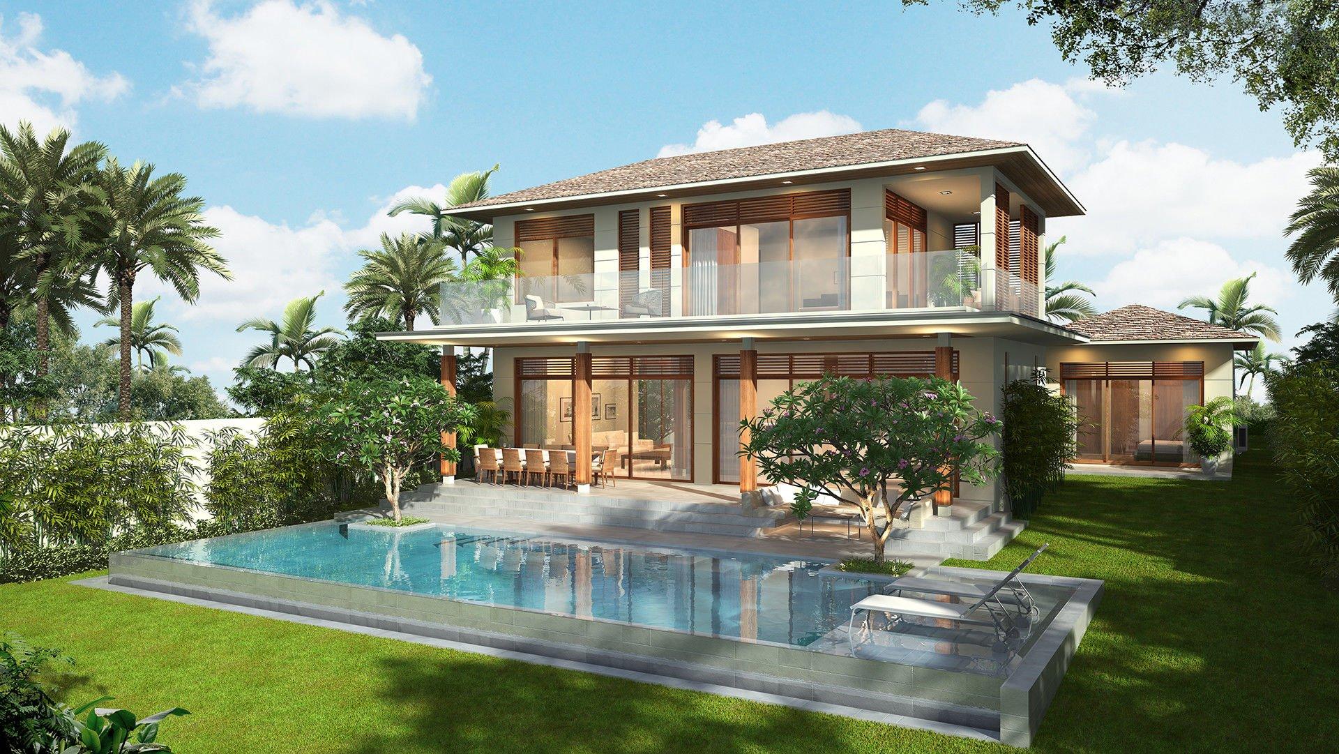 mẫu thiết kế biệt thự nhà vườn đẹp 6