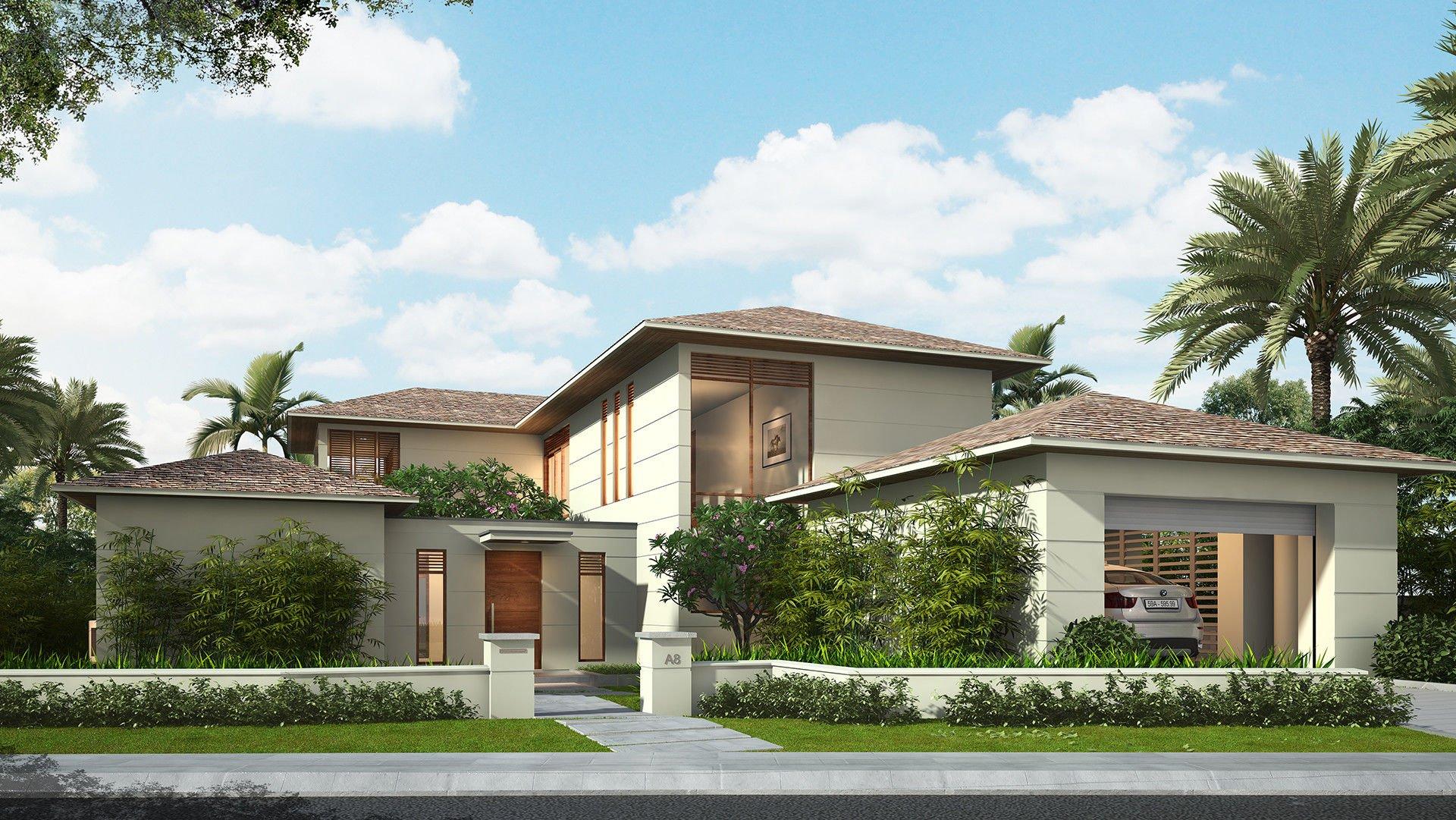 mẫu thiết kế biệt thự nhà vườn đẹp 7