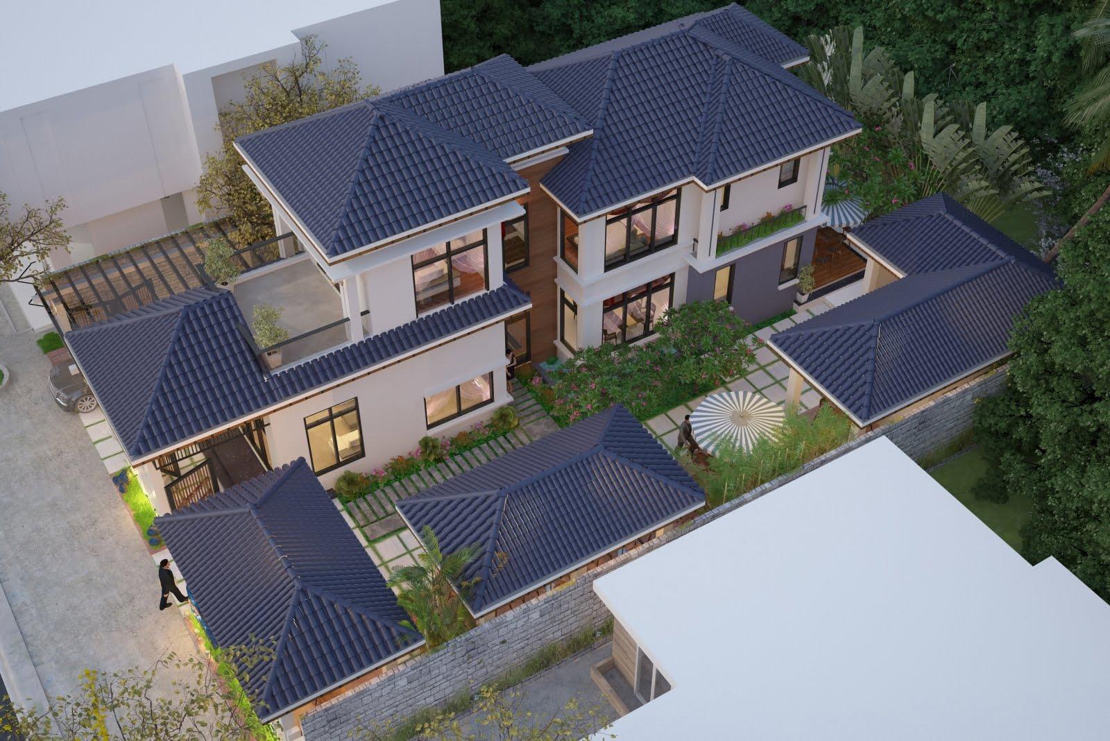 mẫu thiết kế biệt thự nhà vườn đẹp 8
