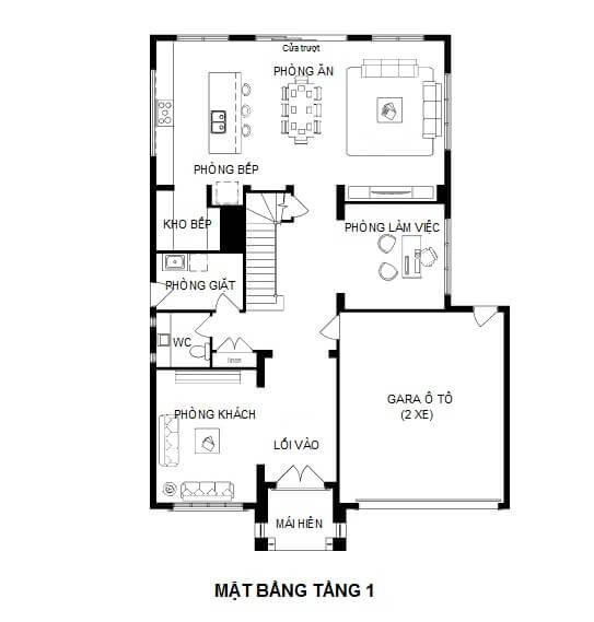 mẫu thiết kế biệt thự pháp 2 tầng 4
