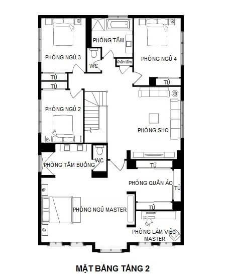 mẫu thiết kế biệt thự pháp 2 tầng 5
