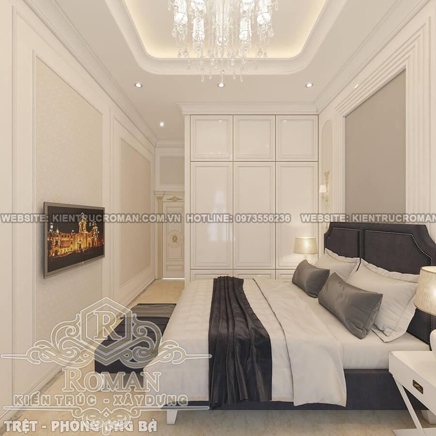 phòng ngủ ông bài mẫu thiết kế biệt thự tân cổ điển
