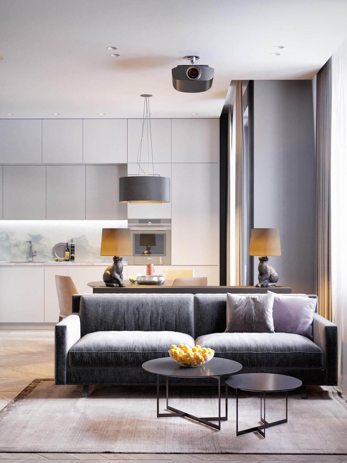 Mẫu thiết kế căn hộ chung cư 50m2 hiện đại