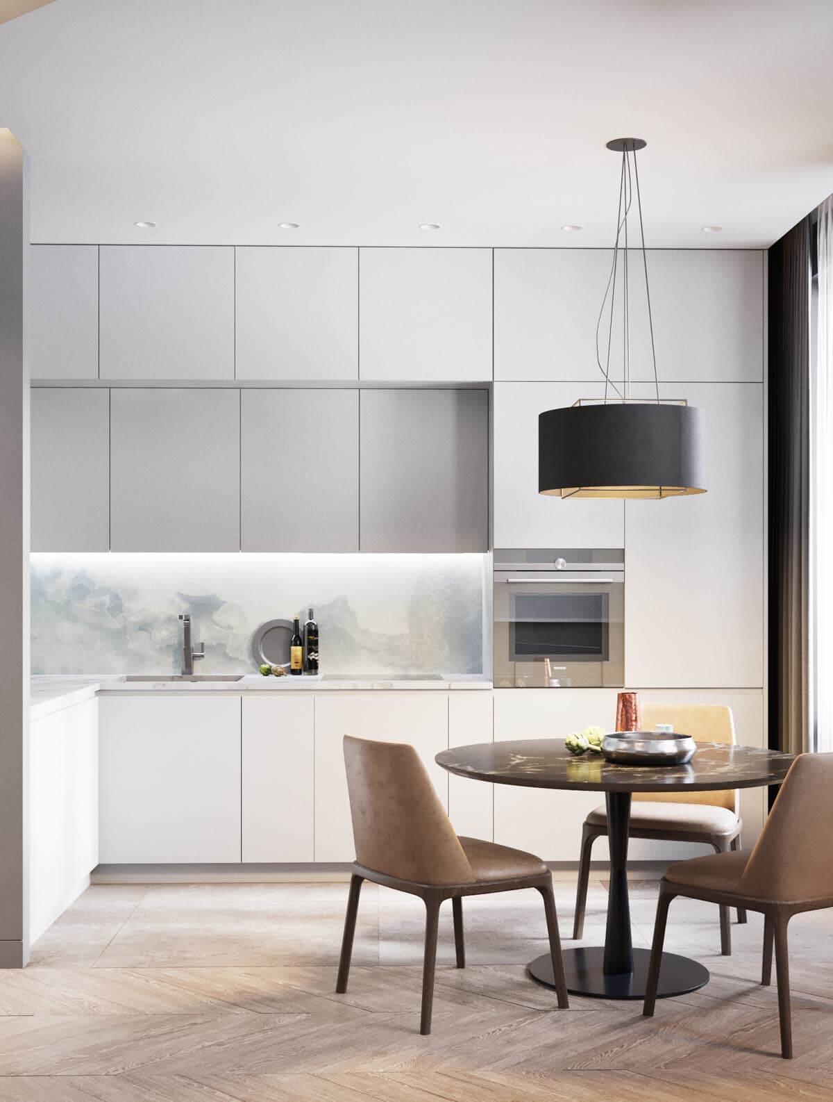 Mẫu thiết kế căn hộ chung cư 50m2 hiện đại 4