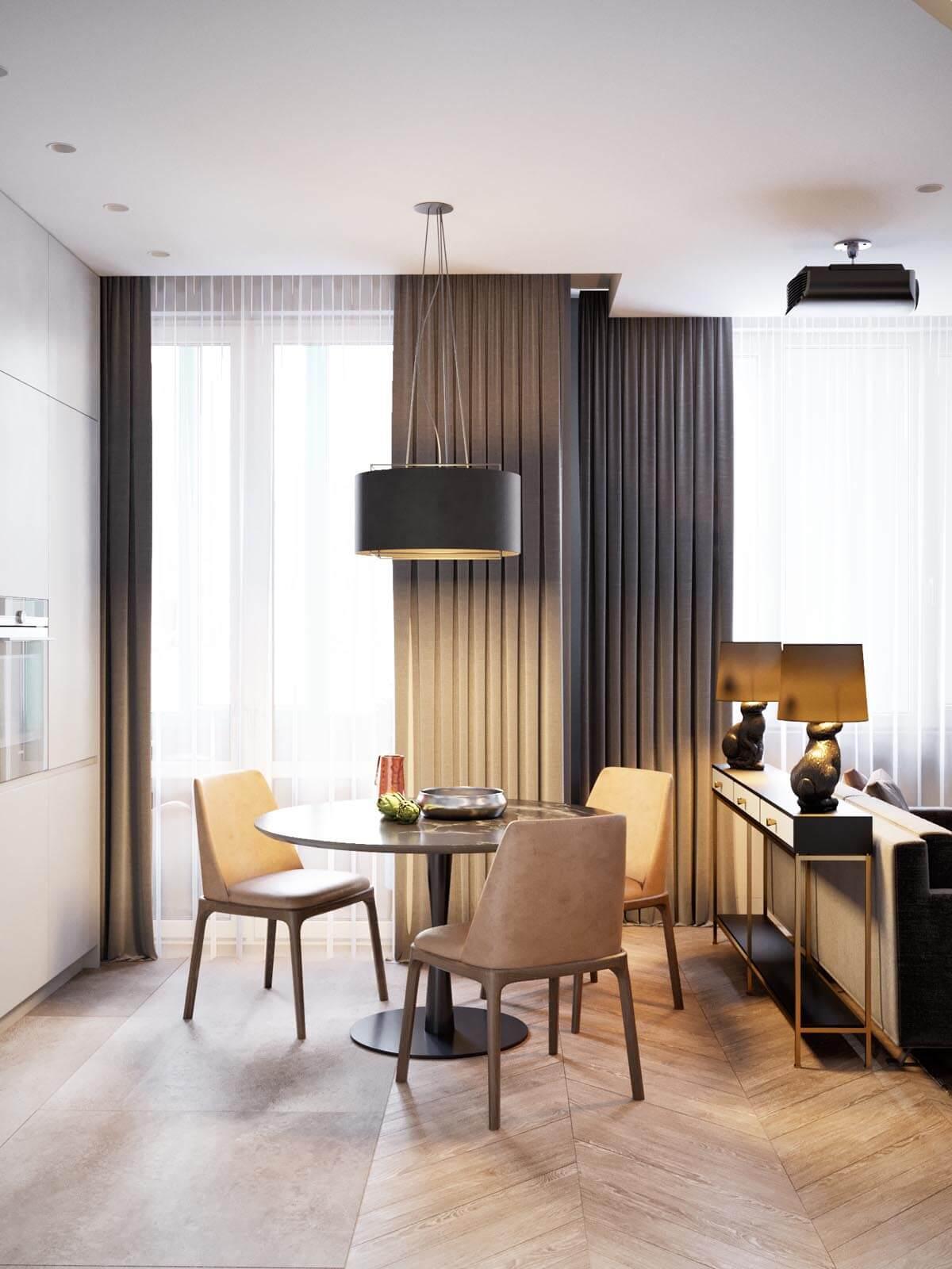 Mẫu thiết kế căn hộ chung cư 50m2 hiện đại 5