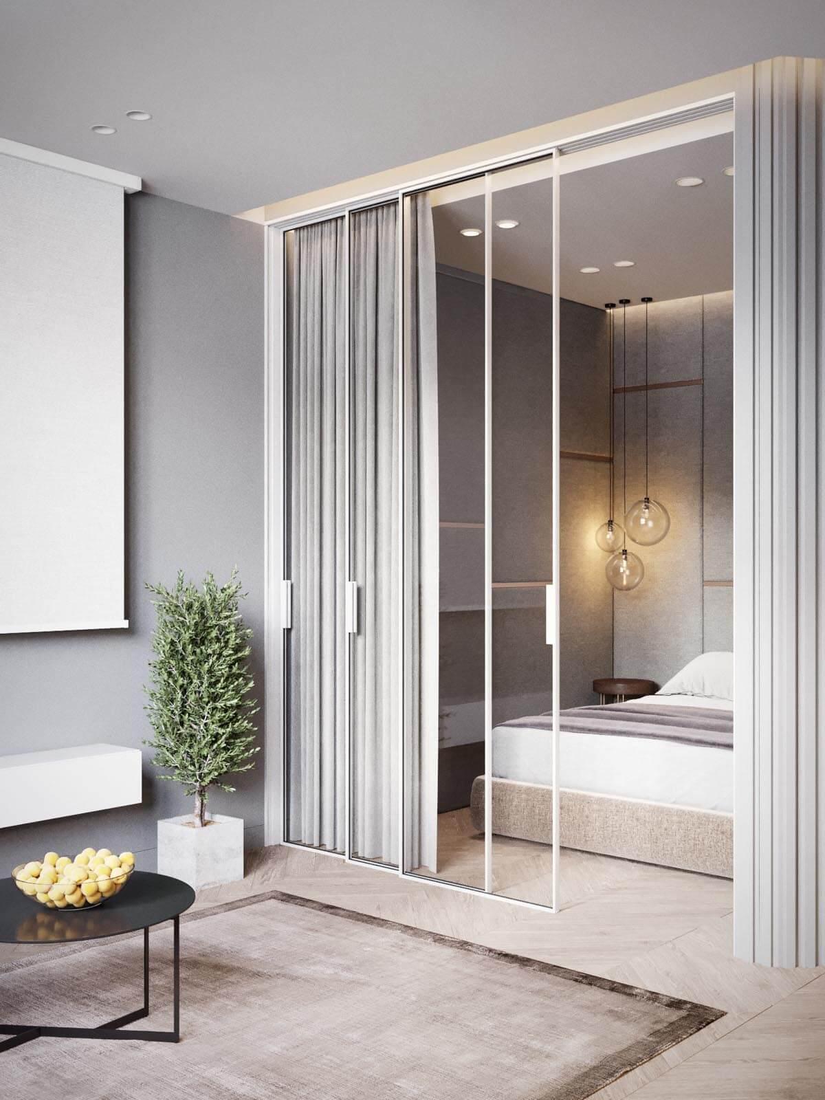 Mẫu thiết kế căn hộ chung cư 50m2 hiện đại 7