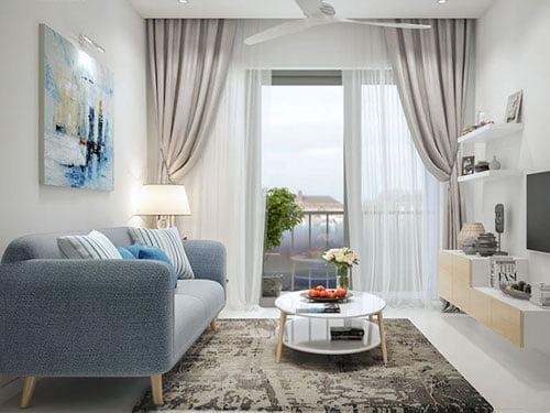 Mẫu thiết kế căn hộ chung cư 50m2 không chê vào đâu được
