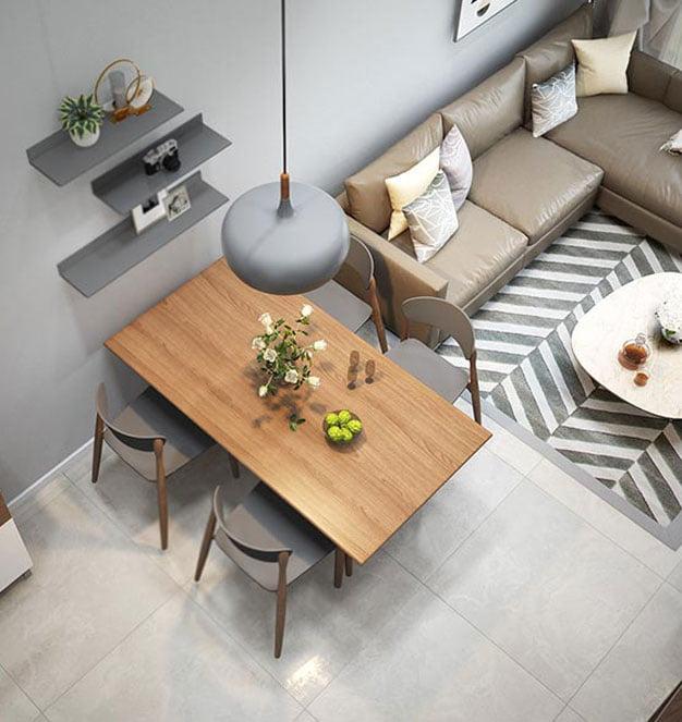 Mẫu thiết kế căn hộ chung cư 50m2 lí tưởng cho người độc thân