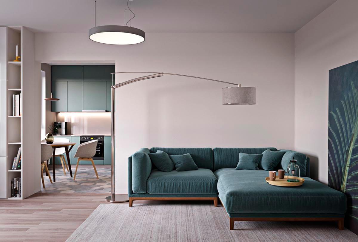 mẫu thiết kế căn hộ chung cư 60m2 sang trọng 1