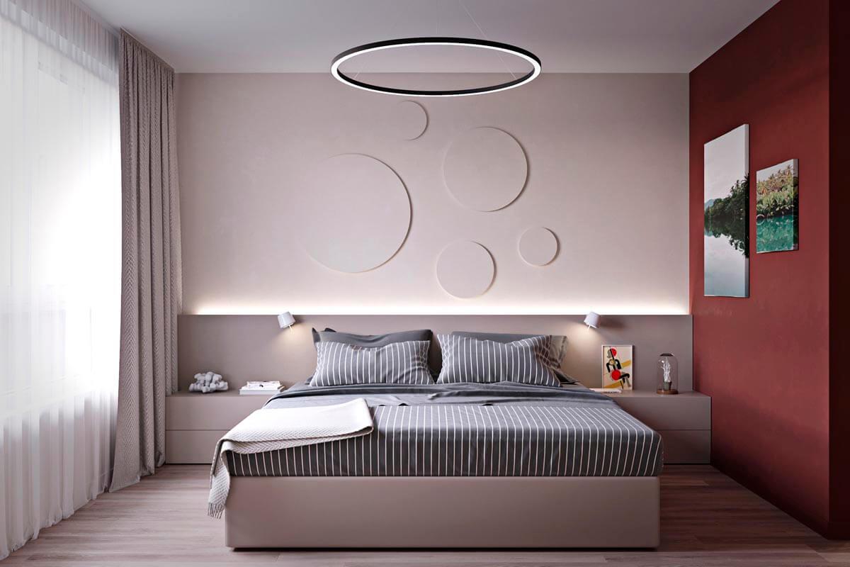mẫu thiết kế căn hộ chung cư 60m2 sang trọng 9