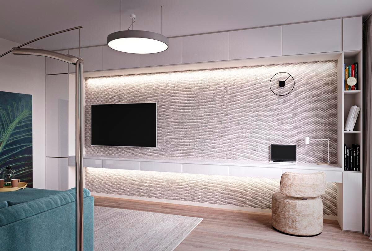 mẫu thiết kế căn hộ chung cư 60m2 sang trọng 2