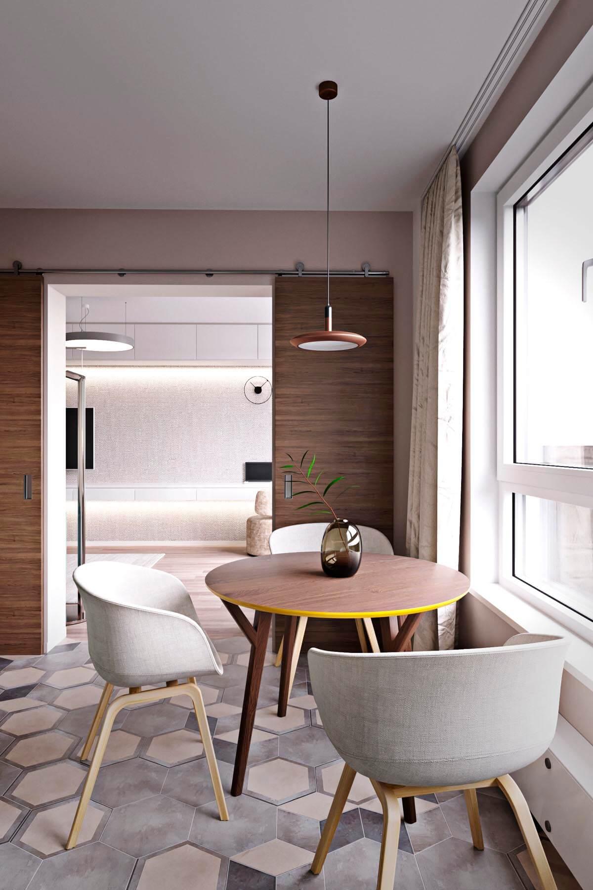 mẫu thiết kế căn hộ chung cư 60m2 sang trọng 6