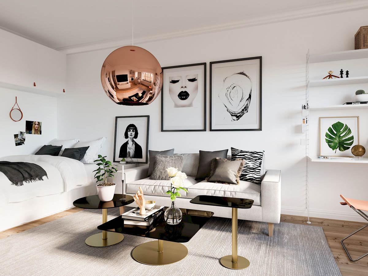 mẫu thiết kế căn hộ diện tích nhỏ đẹp 10