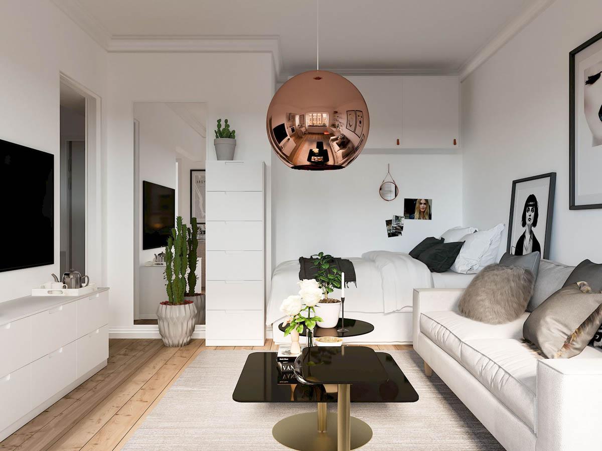 mẫu thiết kế căn hộ diện tích nhỏ đẹp 11