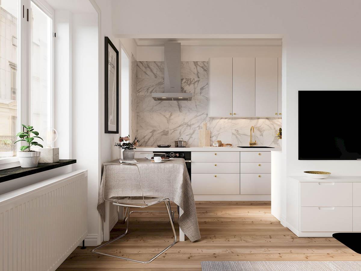 mẫu thiết kế căn hộ diện tích nhỏ đẹp 12