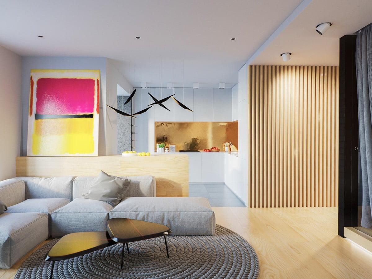 mẫu thiết kế căn hộ diện tích nhỏ đẹp 21