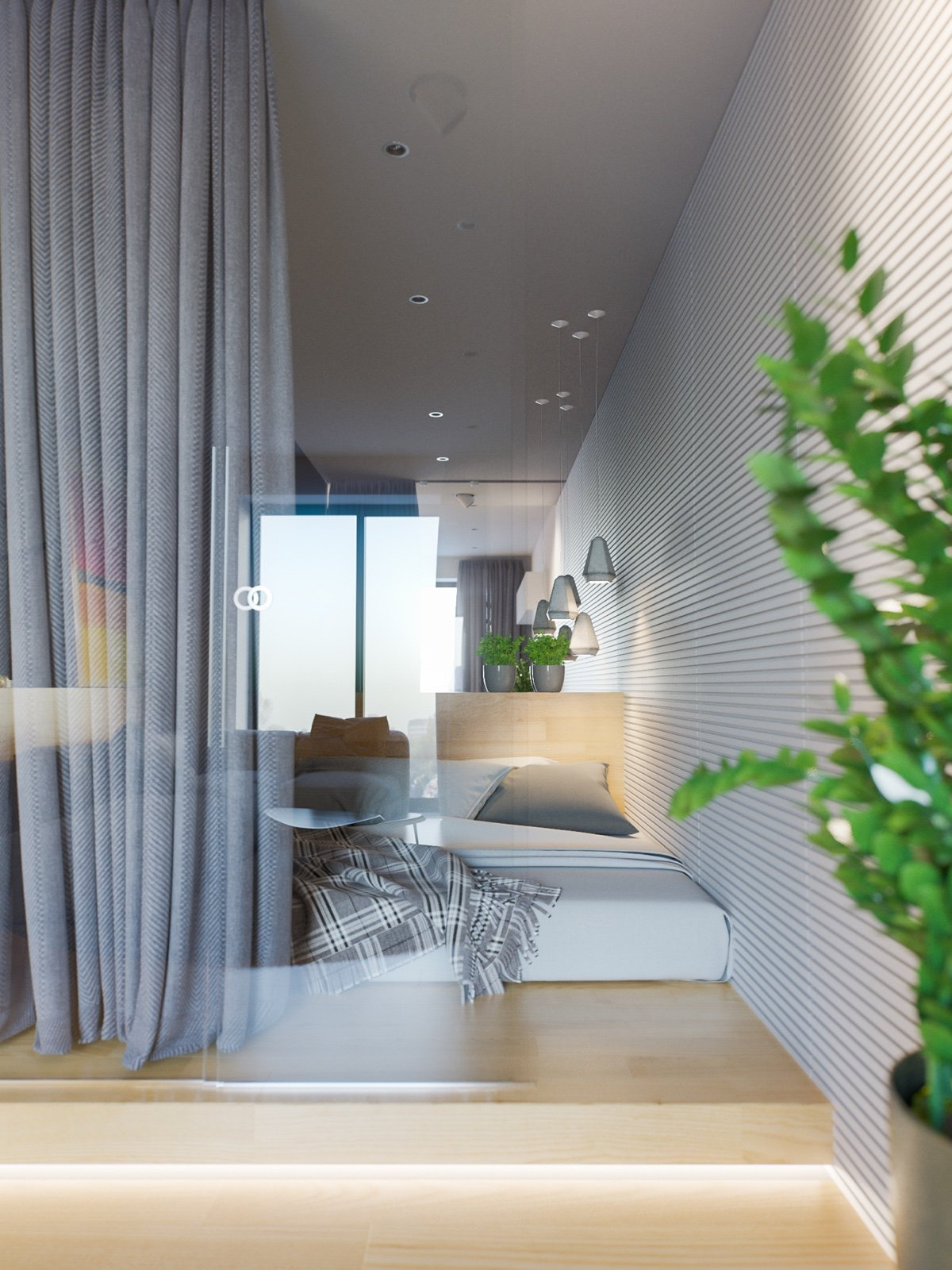 mẫu thiết kế căn hộ diện tích nhỏ đẹp 24
