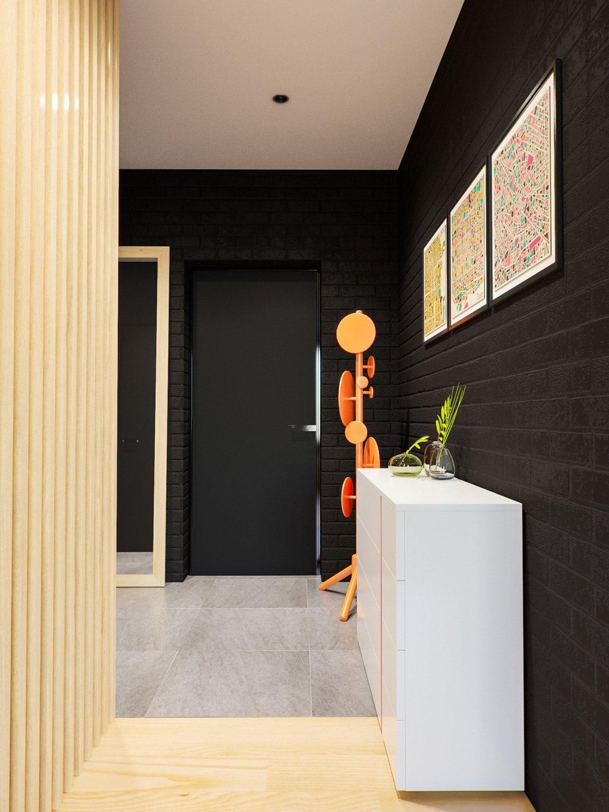 mẫu thiết kế căn hộ diện tích nhỏ đẹp 25
