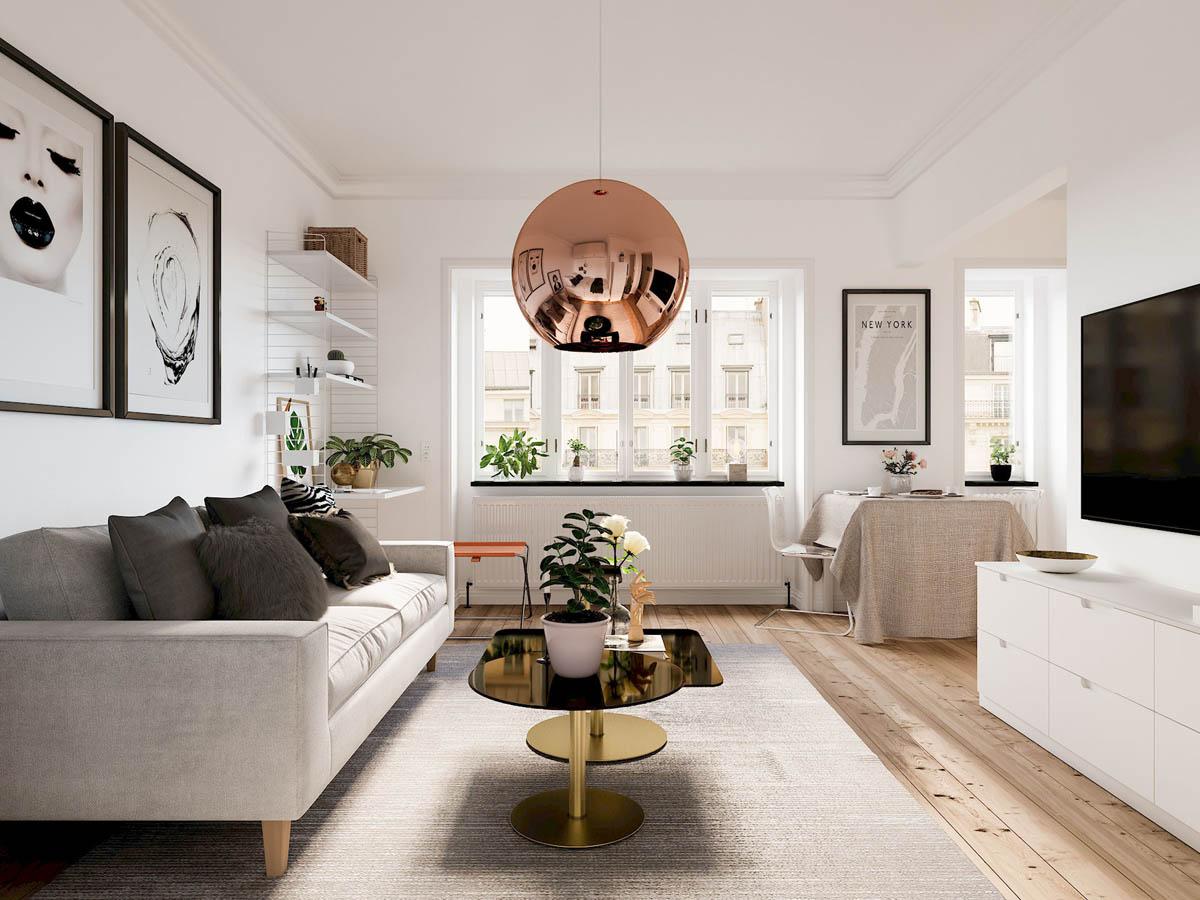 mẫu thiết kế căn hộ diện tích nhỏ đẹp 9