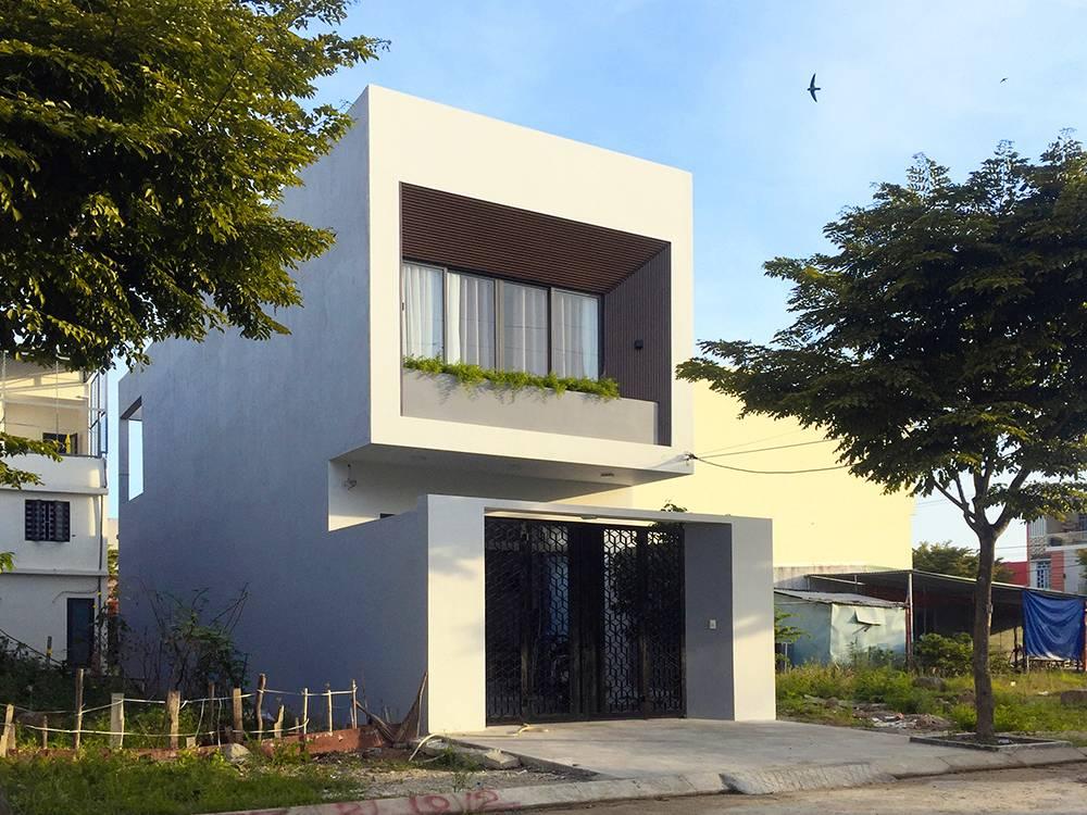 mẫu thiết kế nhà 2 tầng mặt tiền 6m 1